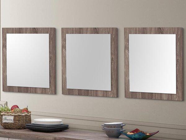 Lot de 3 miroirs NELI 55 cm chêne d'automne