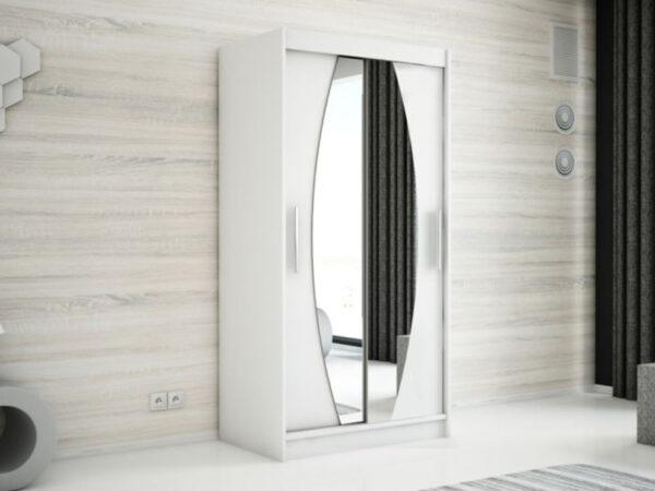 Armoire ELYCOPTER 2 portes coulissantes 120 cm blanc