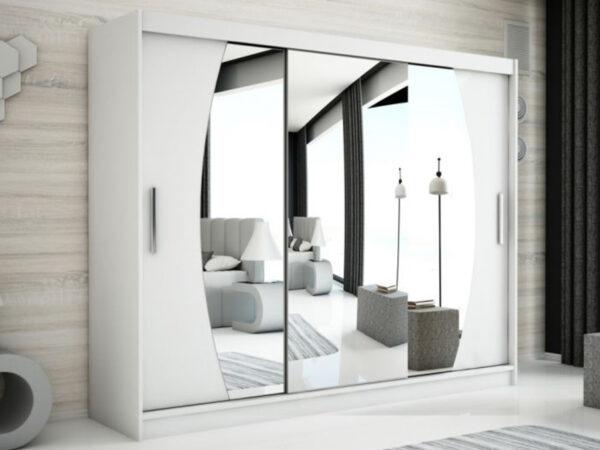 Armoire ELYCOPTER 3 portes coulissantes 250 cm blanc