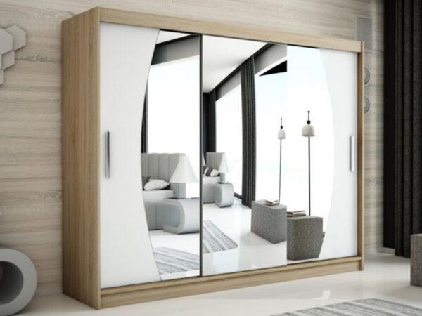 Armoire ELYCOPTER 3 portes coulissantes 250 cm sonoma/blanc