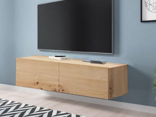 Meuble tv-hifi ENJOLY 2 portes chêne artisan
