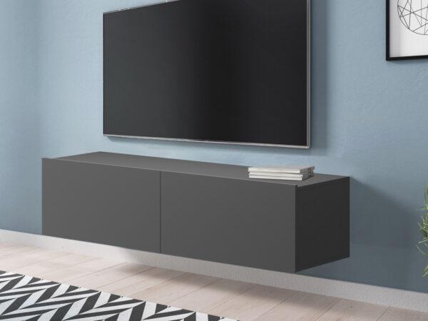 Meuble tv-hifi ENJOLY 2 portes graphite