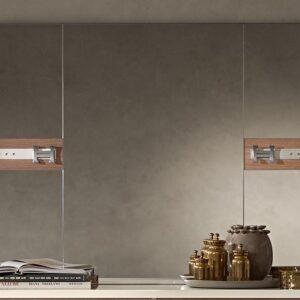 Miroir EVEREST DELUXE 120 cm ivoire laqué/noyer