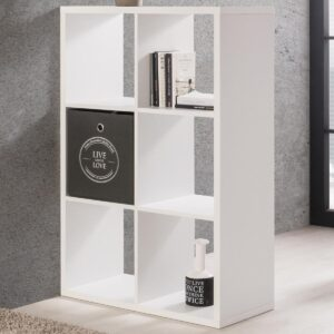 Bibliothèque MAXIM 6 niches blanc