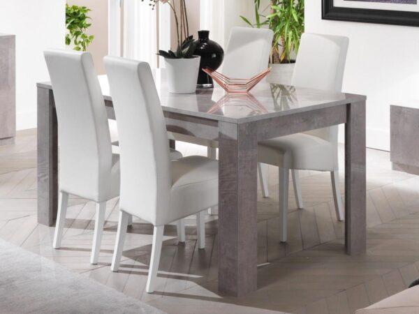 Table repas rectangulaire GRENADE 160 cm marbre laqué