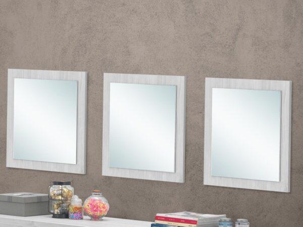 Lot de 3 miroirs ELVITA chêne blanchi