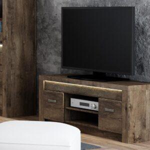 Meuble TV INDY 2 portes frêne foncé sans led