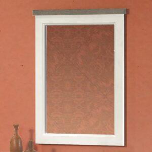 Miroir IVANA truffe/porcelaine