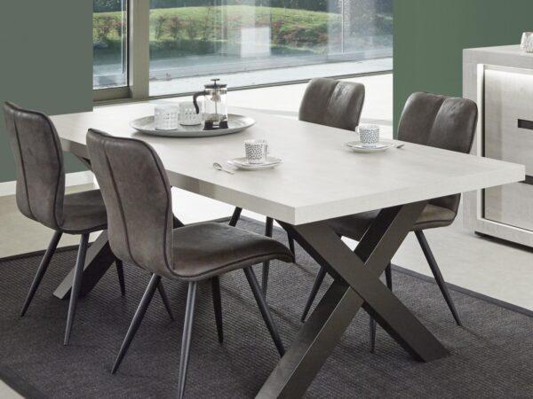 Table repas rectangulaire LUDIVINE 220 cm chênes andes