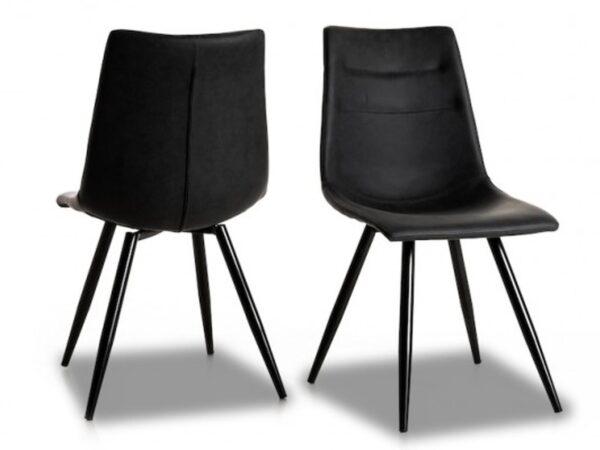 Lot de 2 chaises ONNIX noir