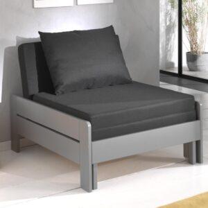 Canapé-lit ALIZE 80x200 cm pin gris