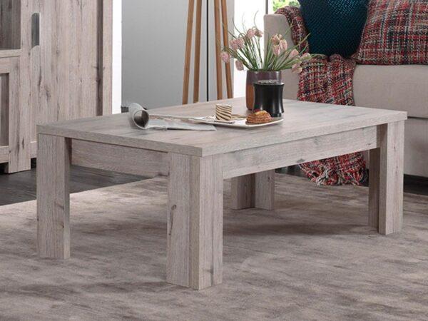 Table basse rectangulaire POSEIDON 126 cm chêne wellington