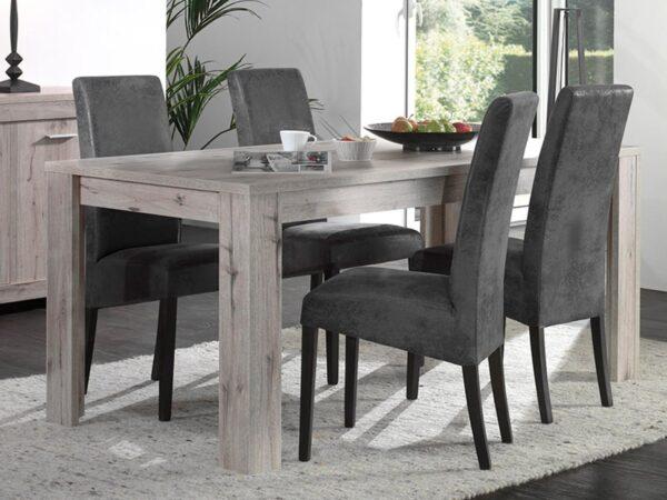 Table repas rectangulaire POSEIDON 160 cm chêne wellington