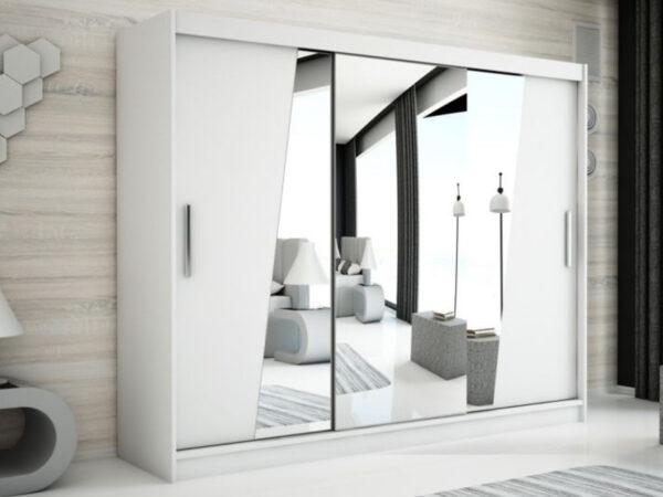 Armoire RHOMBO 3 portes coulissantes 250 cm blanc