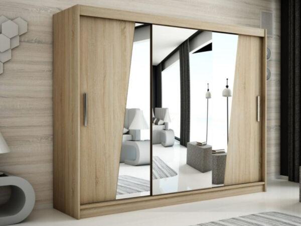 Armoire RHOMBO 3 portes coulissantes 250 cm sonoma