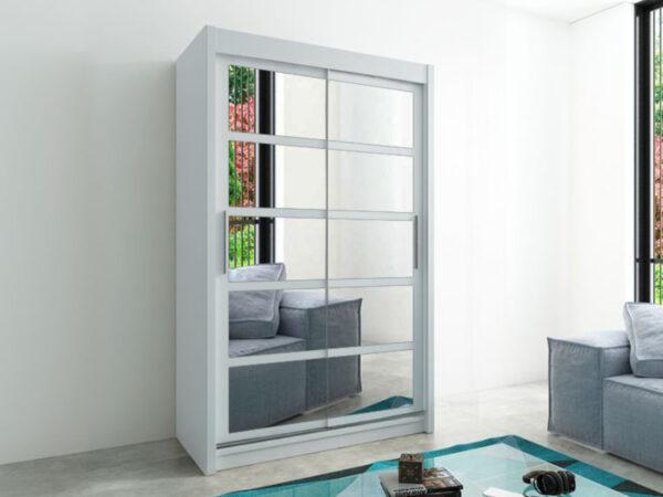 Armoire ROMELU 2 portes coulissantes 150 cm blanc
