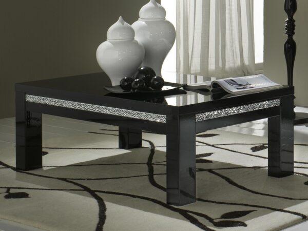 Table basse REBECCA rectangulaire noir laque