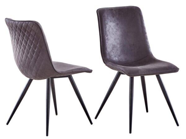 Lot de 4 chaises CODY gris