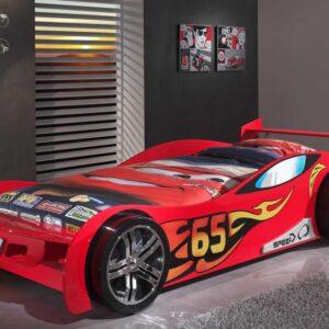 Lit enfant voiture SPEED TURBO 90x200 cm rouge