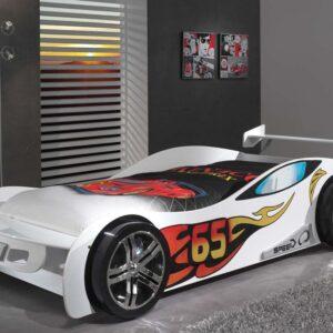 Lit enfant voiture SPEED TURBO 90x200 cm blanc