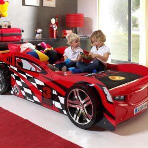 Lit enfant voiture NIGHT SPEEDER 90x200 cm rouge