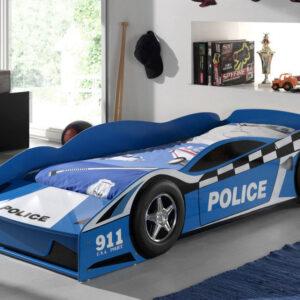 Lit enfant VOITURE DE POLICE 70x140 cm bleu