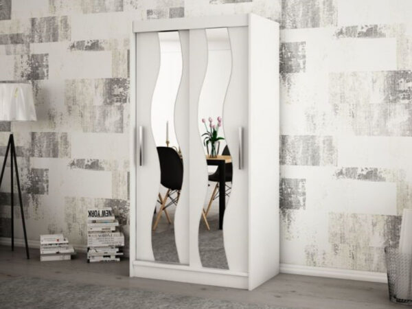Armoire SEWITE 2 portes coulissantes 120 cm blanc