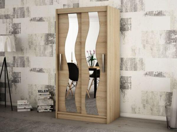 Armoire SEWITE 2 portes coulissantes 100 cm sonoma