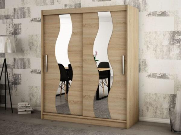 Armoire SEWITE 2 portes coulissantes 200 cm sonoma