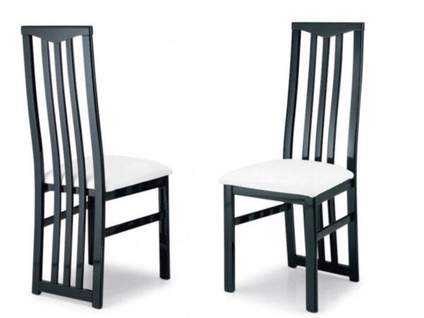 Lot de 2 chaises ROMEO noir/blanc