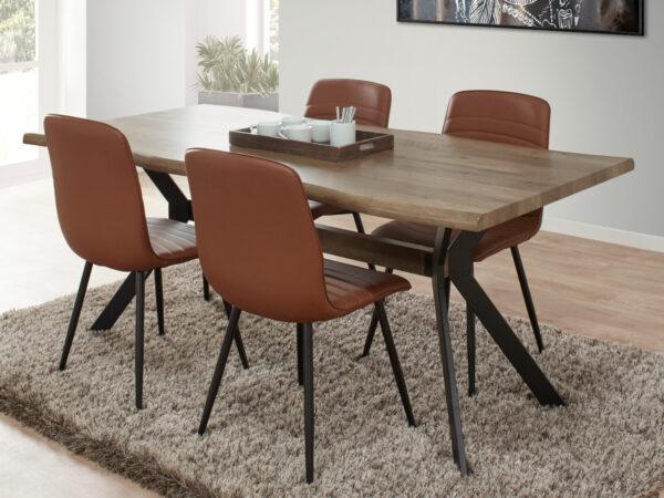 Table repas MIRAGE 100x200 cm chêne