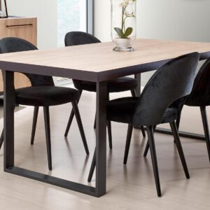 Table repas VIAZZA 230 cm dark stone/castella