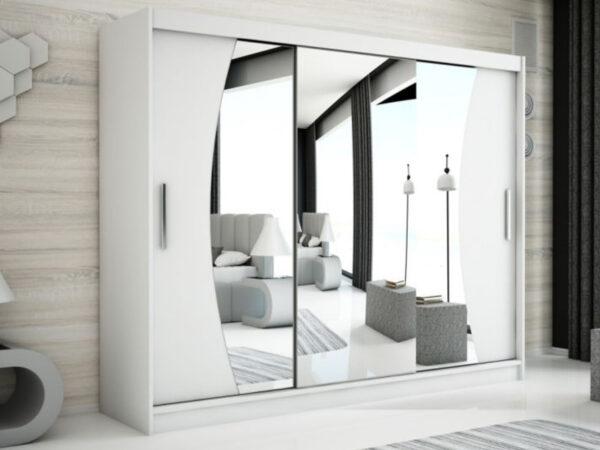 Armoire WAVRE 3 portes coulissantes 250 cm blanc