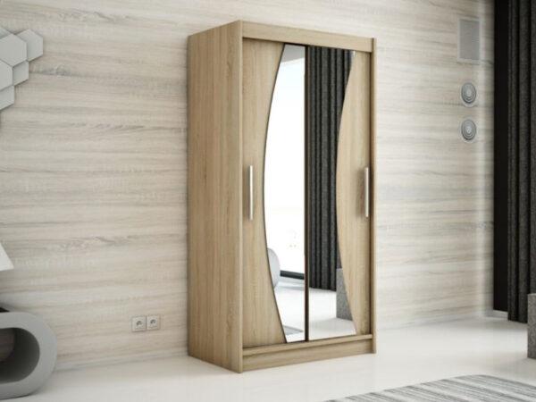Armoire WAVRE 2 portes coulissantes 100 cm sonoma