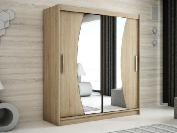 Armoire WAVRE 2 portes coulissantes 200 cm sonoma