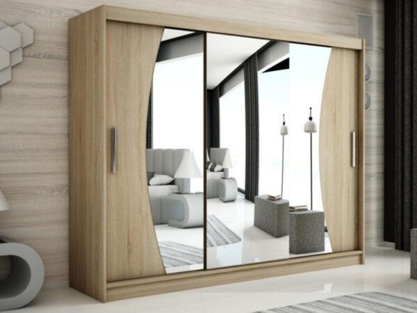 Armoire WAVRE 3 portes coulissantes 250 cm sonoma